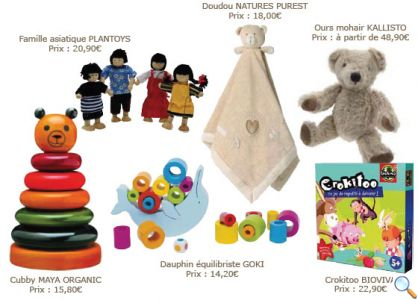 Jouets bébés et livres enfants